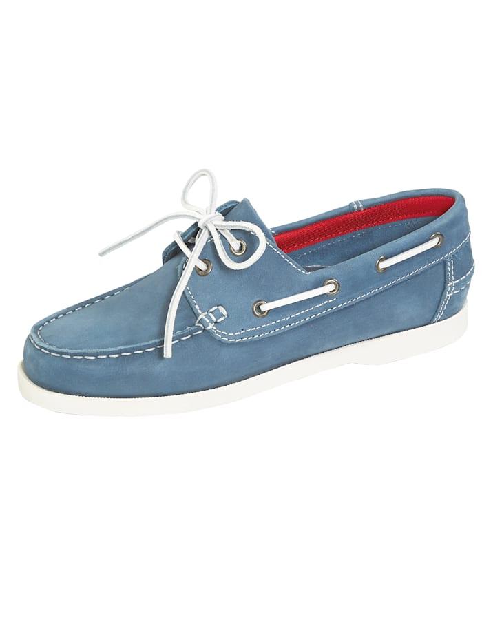 BABISTA Chaussures bateau de style sport, Bleu ciel