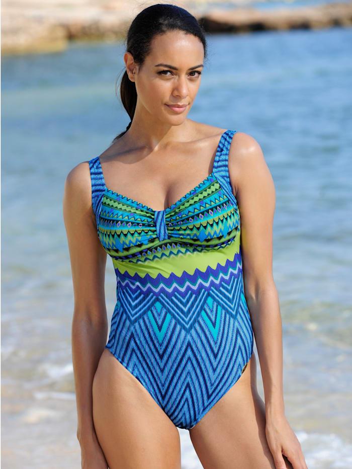 Sunflair Badeanzug in sommerlichen Farben, Blau