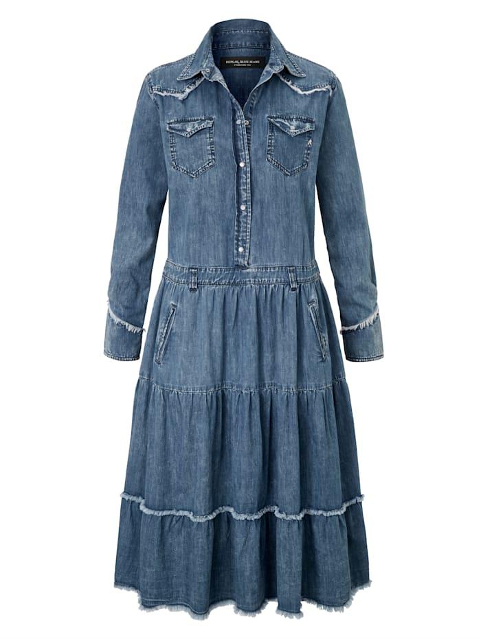 REPLAY Kleid, Blau