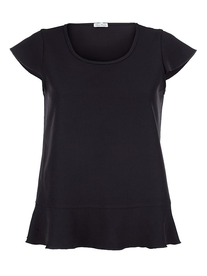 Alba Moda Shirt mit Capsleeve, Schwarz