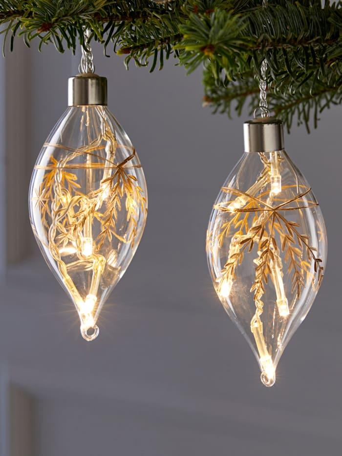Set van 4 glazen ledhangers