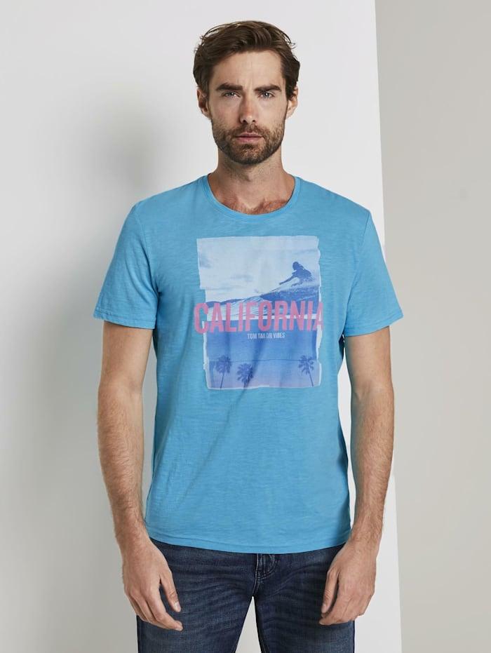 Tom Tailor T-Shirt mit Foto-Print, clear blue atoll
