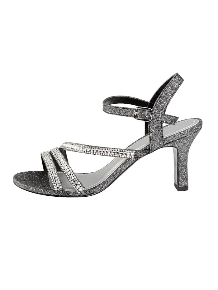 Sandaaltje met elegante steentjesversiering
