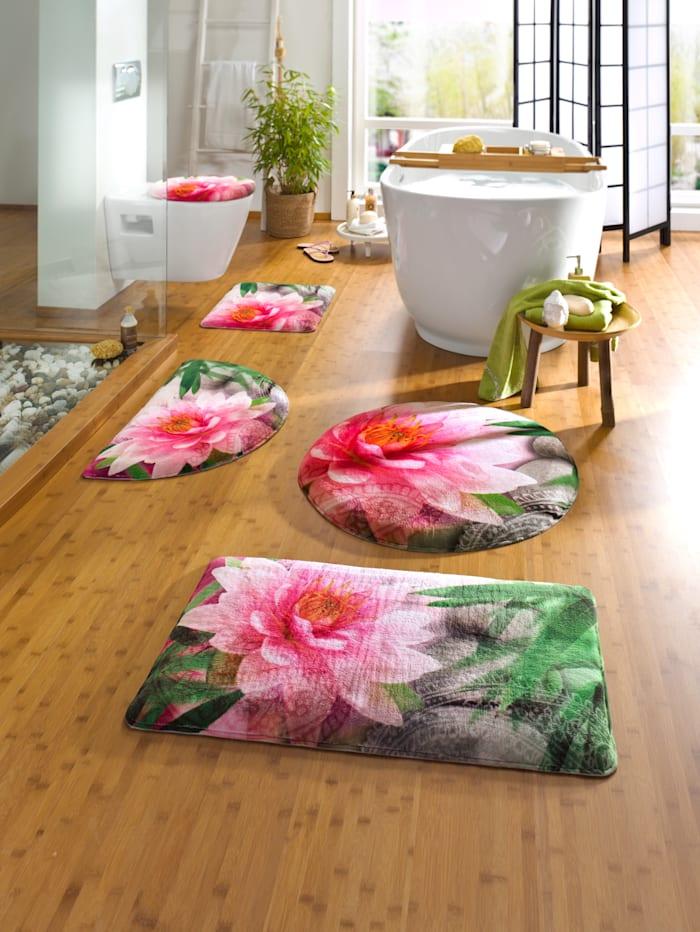 Casamaxx Ensemble de salle de bain 'Lotus', Multicolore