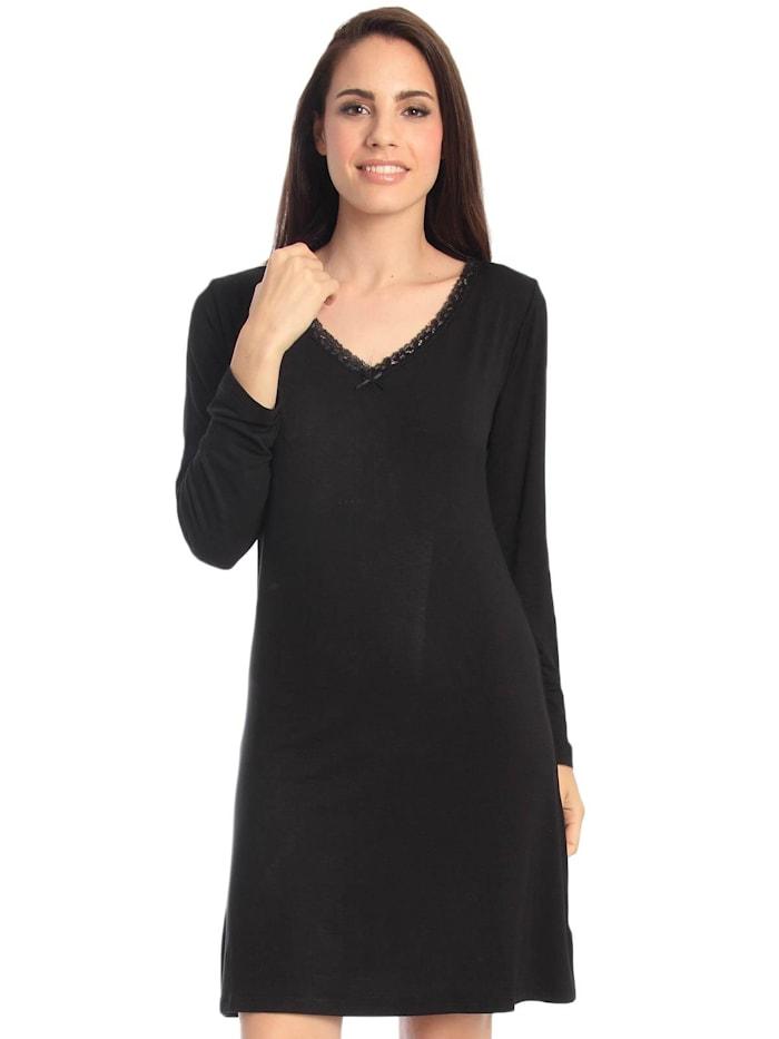 sassa Nachthemd, black