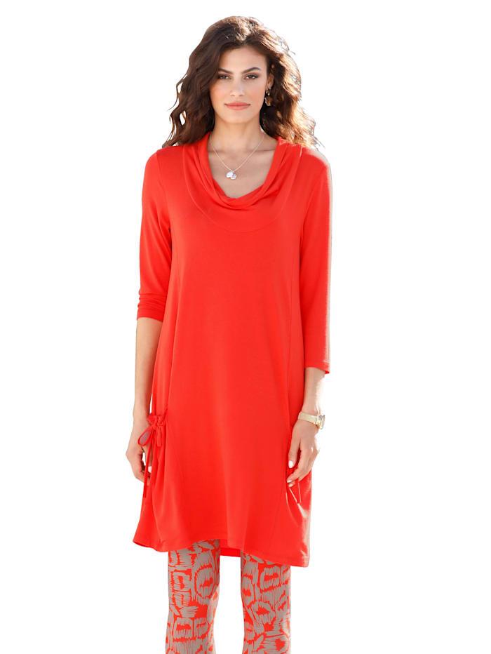 AMY VERMONT Longshirt mit aufgesetzten Taschen, Orange