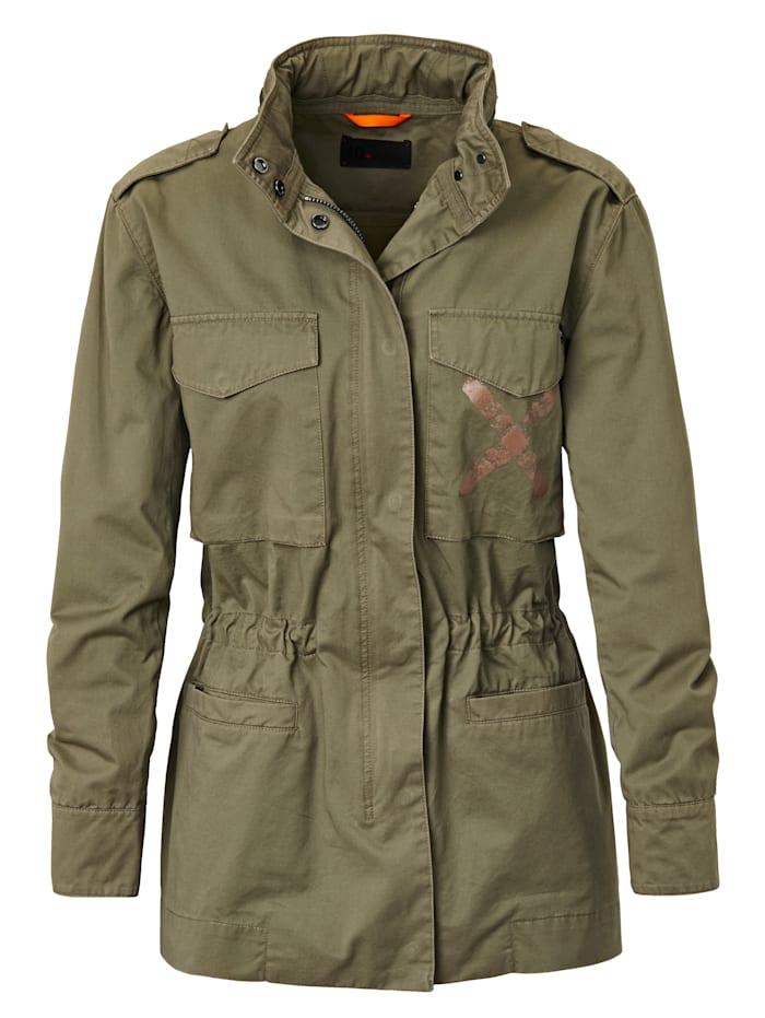 Field Jacket Exklusive Style, Mit rose´ goldenem X auf dem Rücken