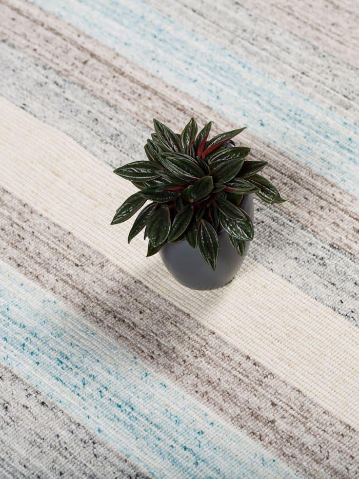 Natur Teppich Kelim Capri Streifen