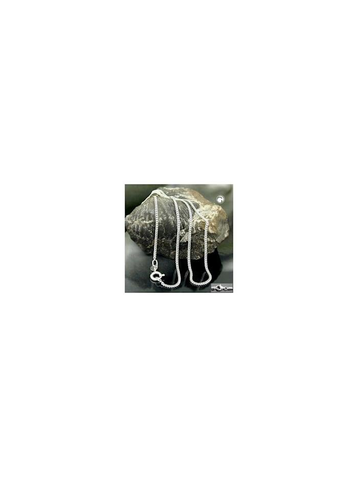 Gallay Schmuckgroßhandel Kette 1,4mm Flachpanzerkette 2x diamantiert Silber 925 60cm, silber