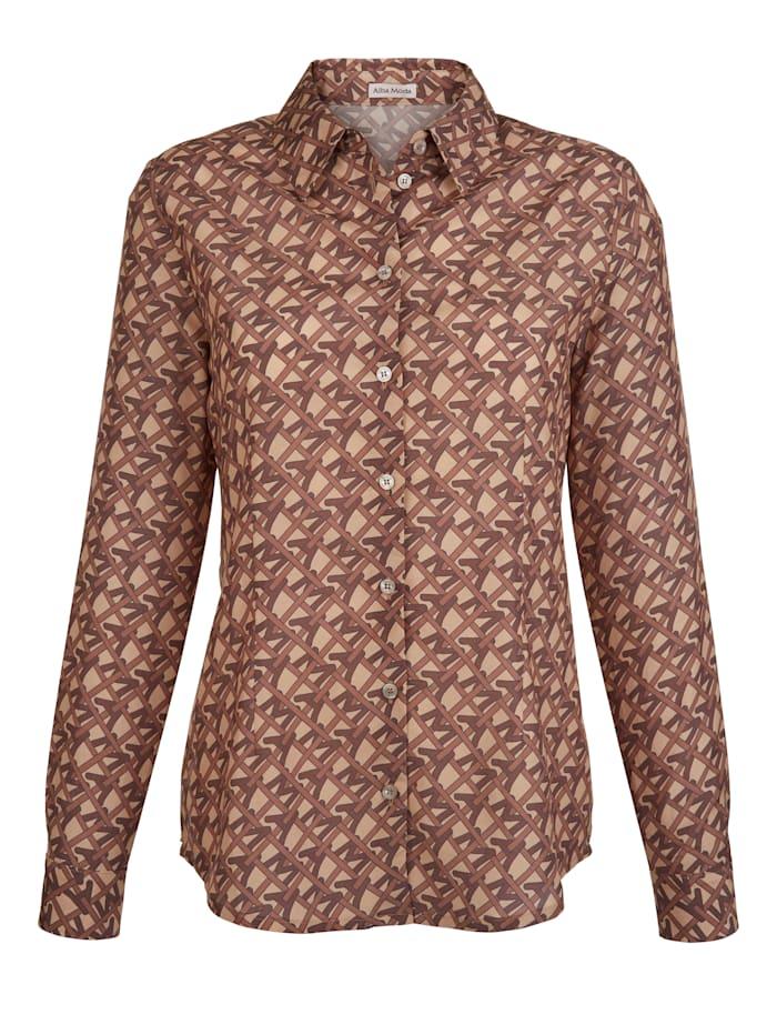 Skjortblus i klassisk modell