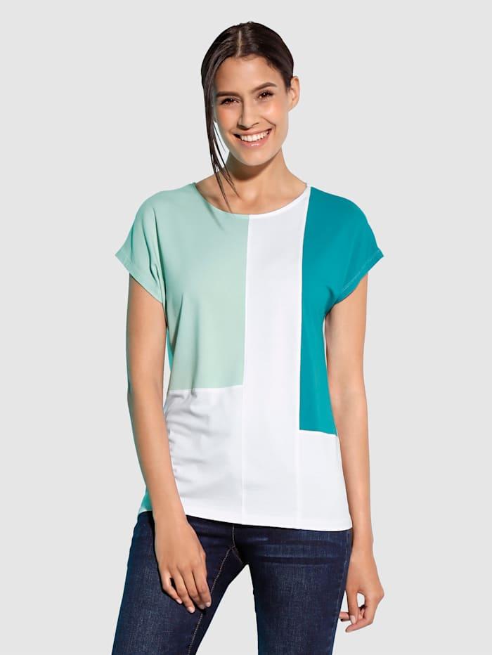 Paola Shirt met color blocking, Wit