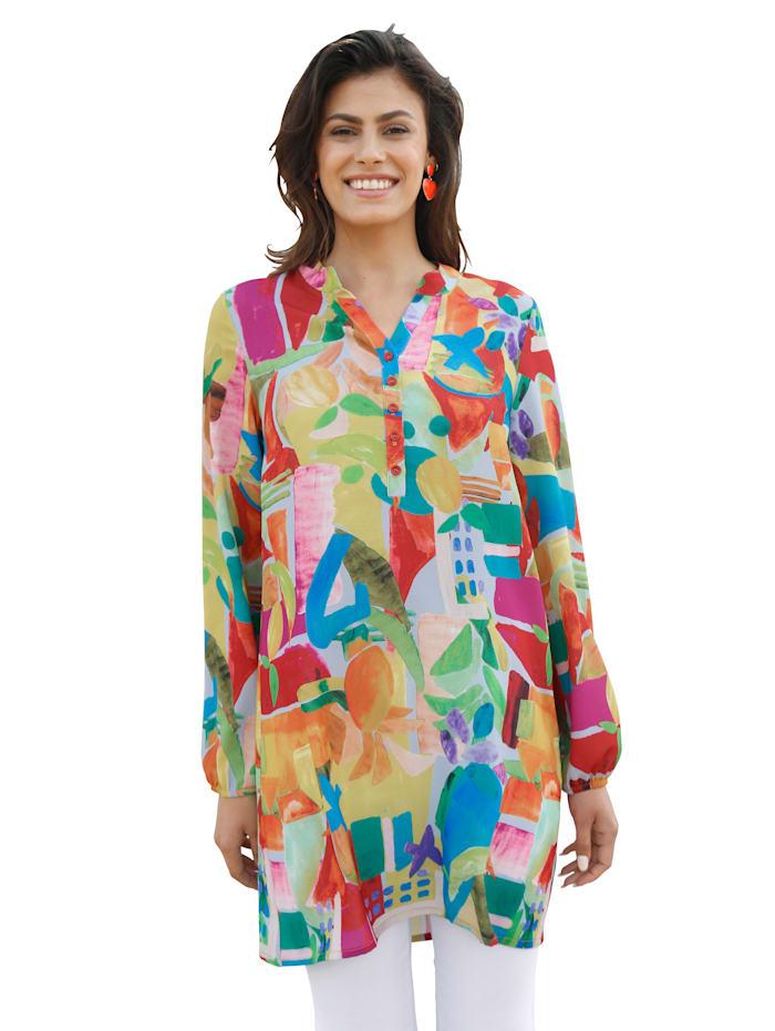 AMY VERMONT Tunika mit buntem grafischem Druck, Multicolor