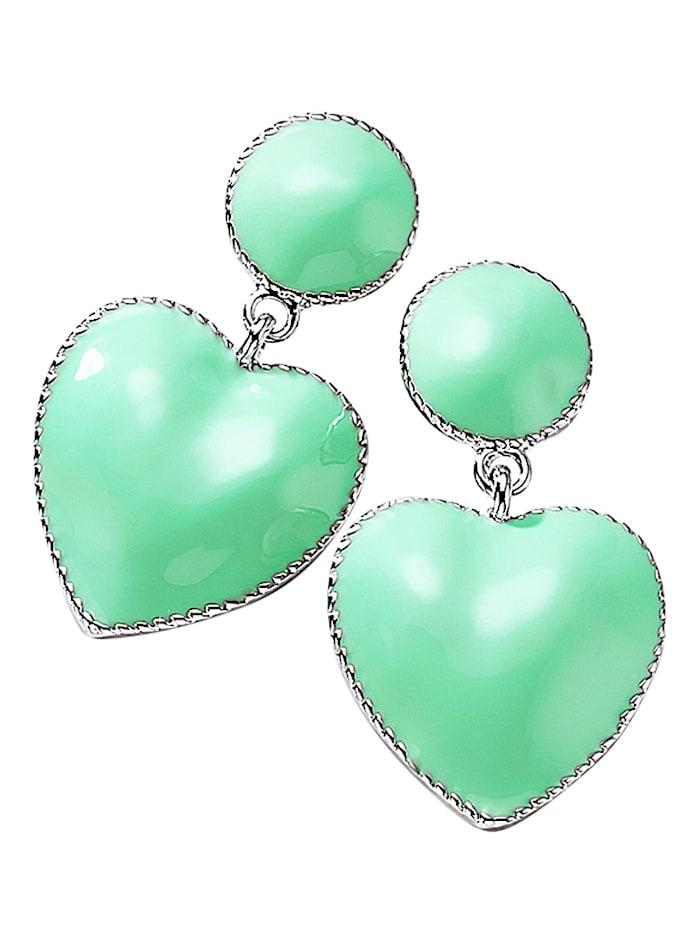 Örhängen med hjärtan, Grön