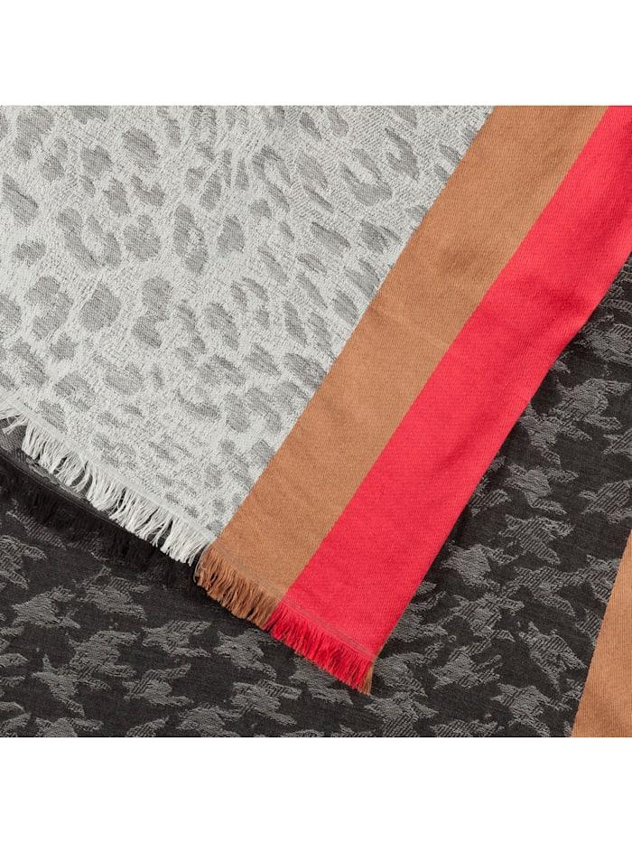 XL-Schal aus Wolle, Baumwolle und Modal