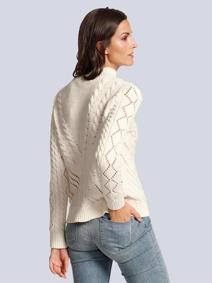 Pullover mit verspielter Spitze am Ausschnitt