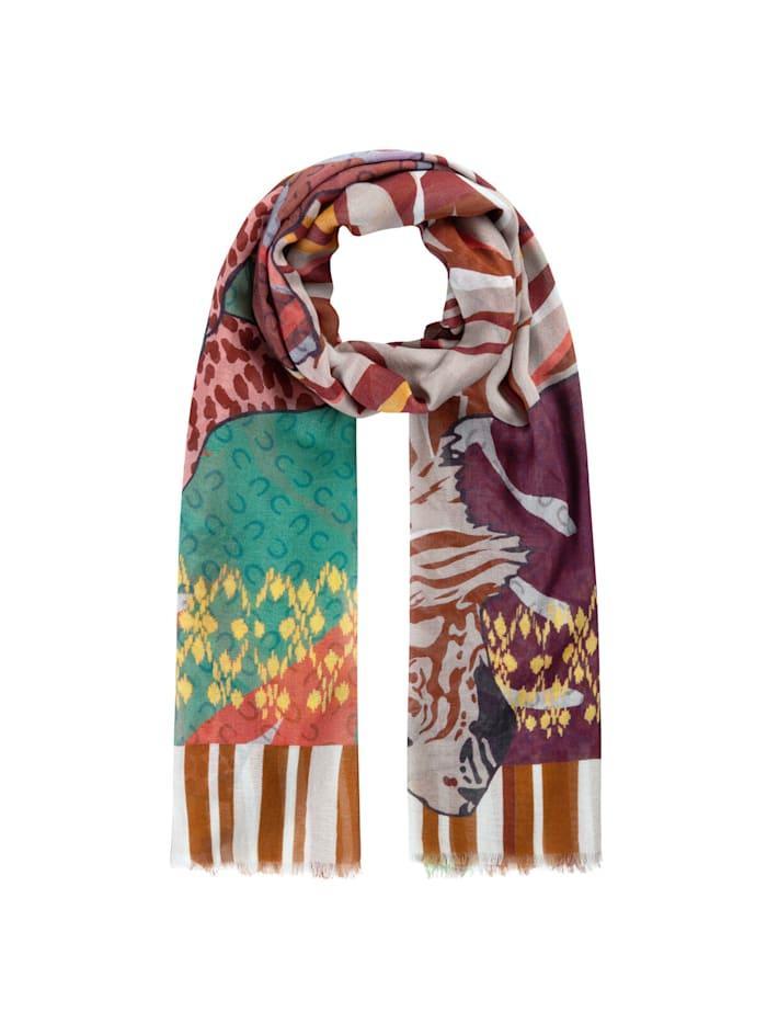 Codello Tiger- & Leo-Schal aus Baumwolle und Modal, rust