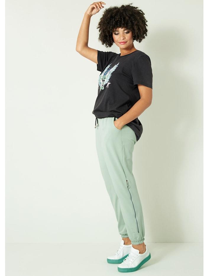 Angel of Style Shirt mit Frontprint, Anthrazit