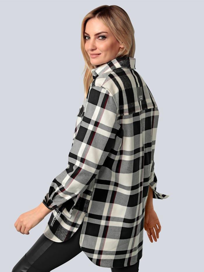 Bluse aus gebrushter Baumwolle