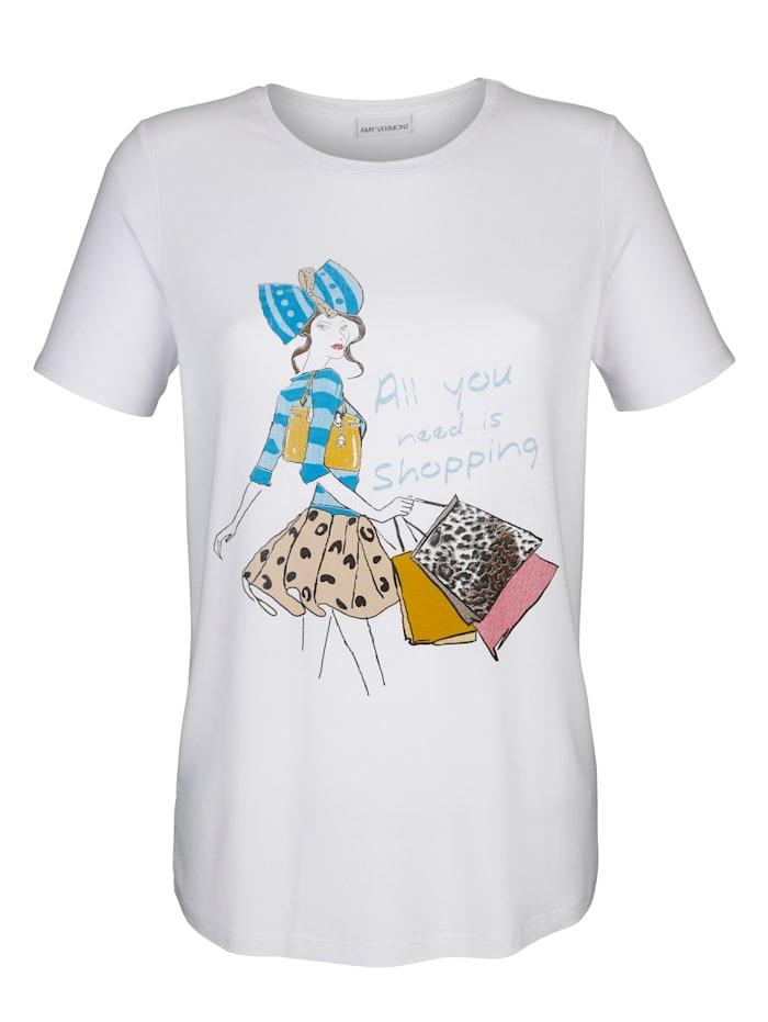 AMY VERMONT Shirt mit Druck, Weiß