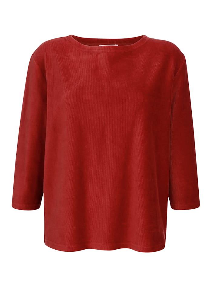 Sweatshirt van comfortabel fijngeribd materiaal