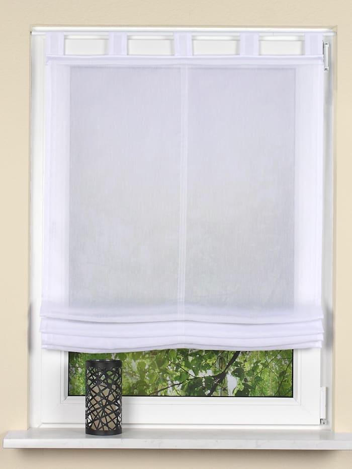 Home Wohnideen Schlaufenrollo in Batist, Nerina, weiß