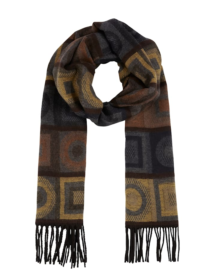 MONA Scarf, Yellow/Brown/Grey