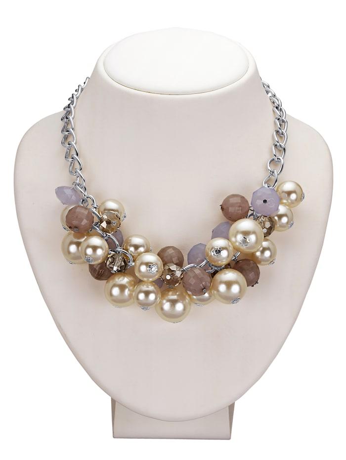 Collier avec perles, Coloris argent