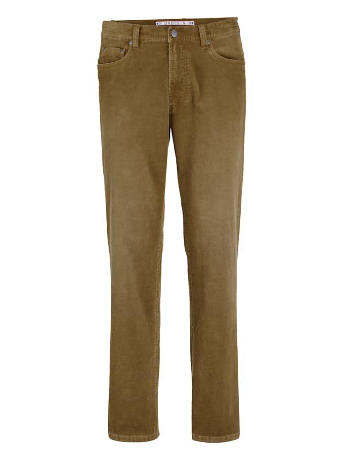 Babista Premium Pantalon en velours côtelé à effet usé, Camel