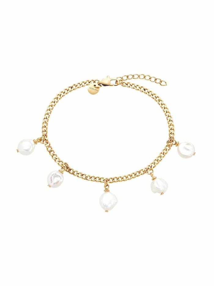 Armband für Damen, Stainless Steel IP Gold, Perle