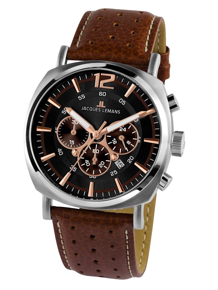 Jacques Lemans Herrenuhr-Chronograph Serie: Lugano, Kollektion: Sport 1-1645.1K, Braun