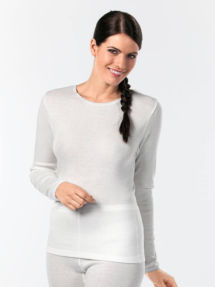 Peters angora Thermo-Damenhemd, elfenbein, Creme-Weiß