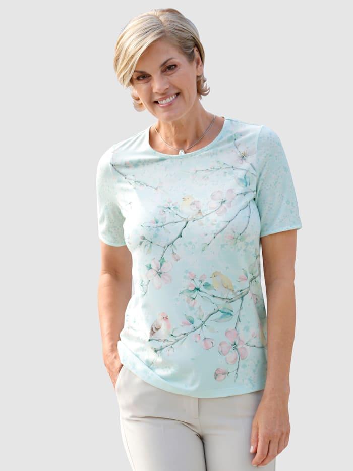 Paola Shirt mit Strasssteinchen besetzt, Mintgrün