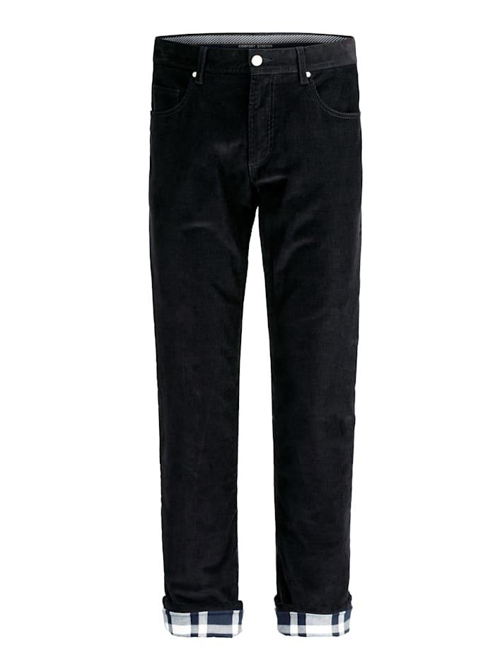 BABISTA Pantalon thermorégulateur en velours côtelé et doublure bien chaude, Marine