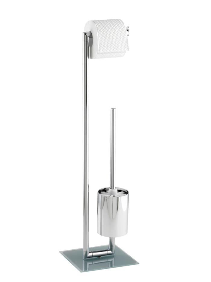 Wenko Stand WC Garnitur Style, Gestell: Chrom, Bodenplatte: Satiniert
