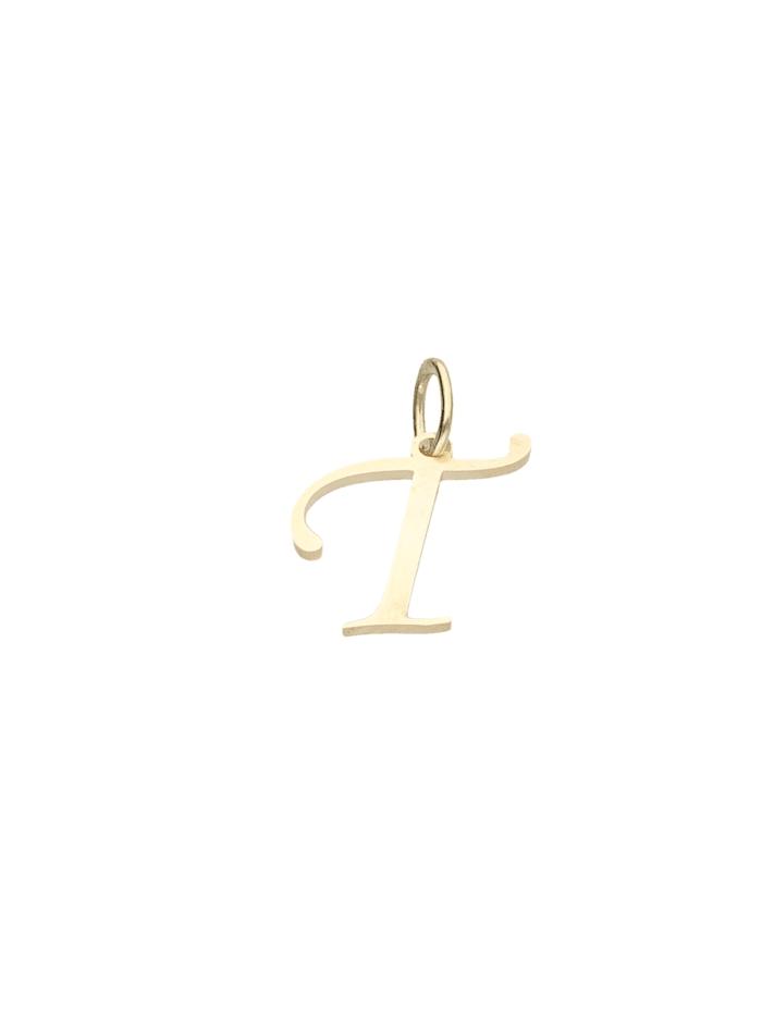 Luigi Merano Anhänger Buchstabe T, Gold 333, Gold