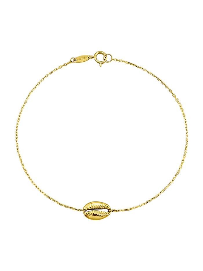 KLiNGEL Muschel-Armband in Gelbgold 375 in Gelbgold 375, Gelbgoldfarben