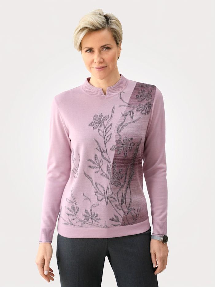 DiStrick Pullover aus Merinowollmischung, Rosé/Grau