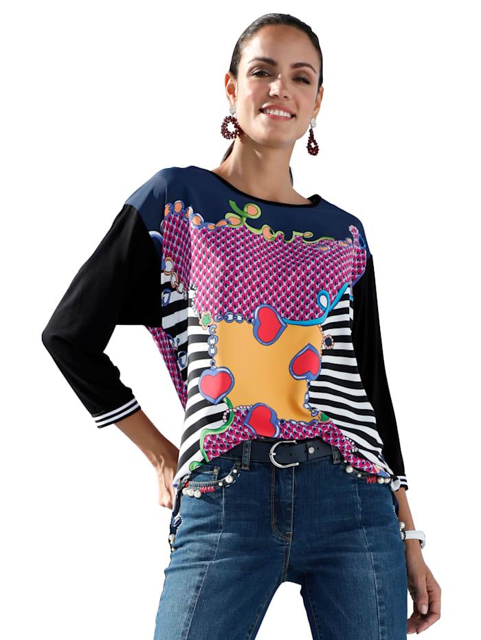 AMY VERMONT Bluse mit platziertem Druck, Multicolor