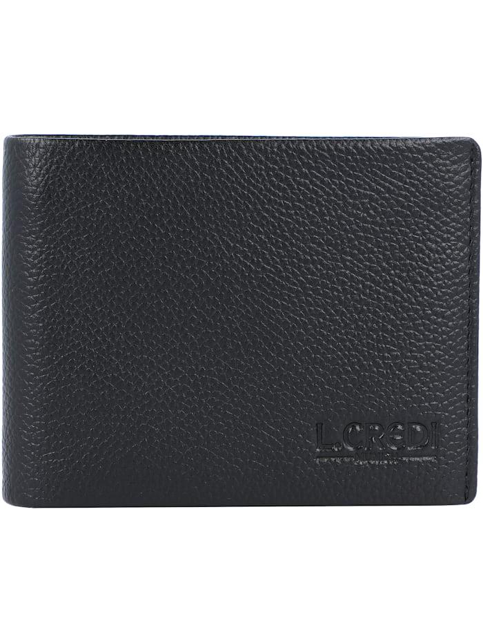 L.Credi Alfredo Geldbörse Leder 11 cm, schwarz