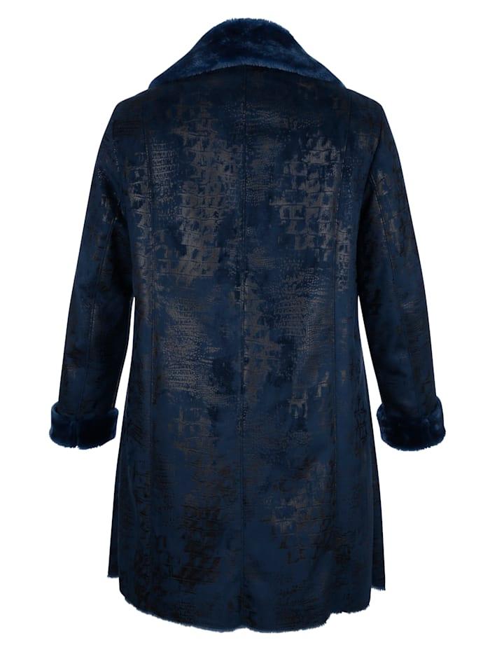 Kabát z imitácie kože vnútri s mäkkou imitáciou kožušiny