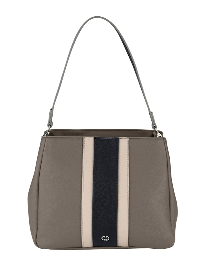Handbag with stripe detail