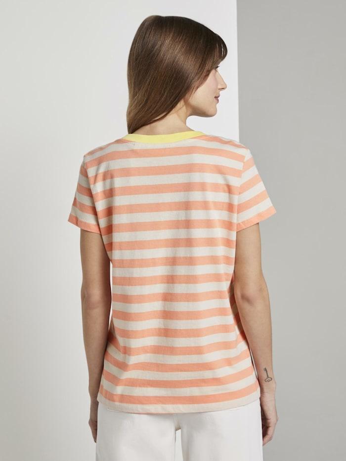 Gestreiftes T-Shirt mit Bio-Baumwolle