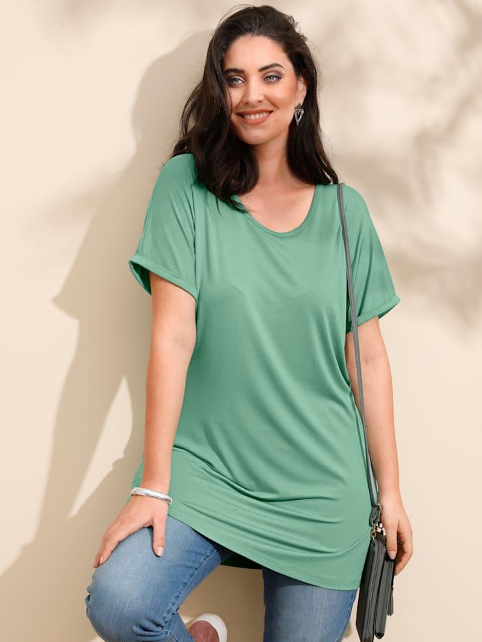 MIAMODA Longshirt mit überschnittener Schulter, Mintgrün
