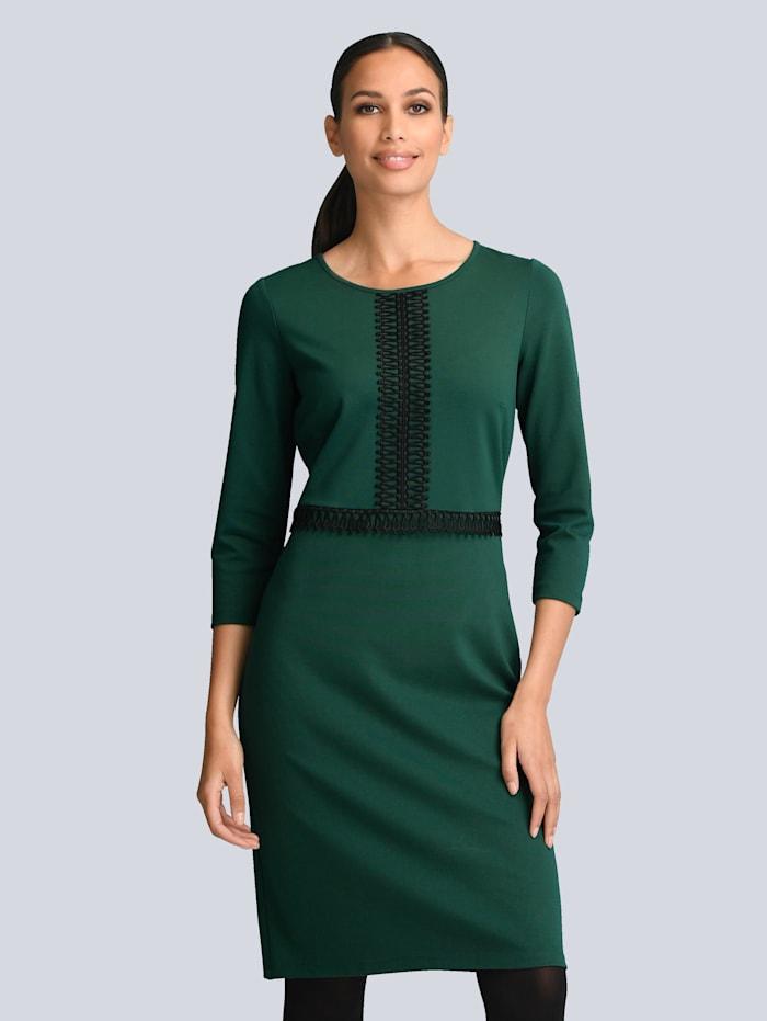 Alba Moda Kleid mit Spitzendetails vorne, Dunkelgrün