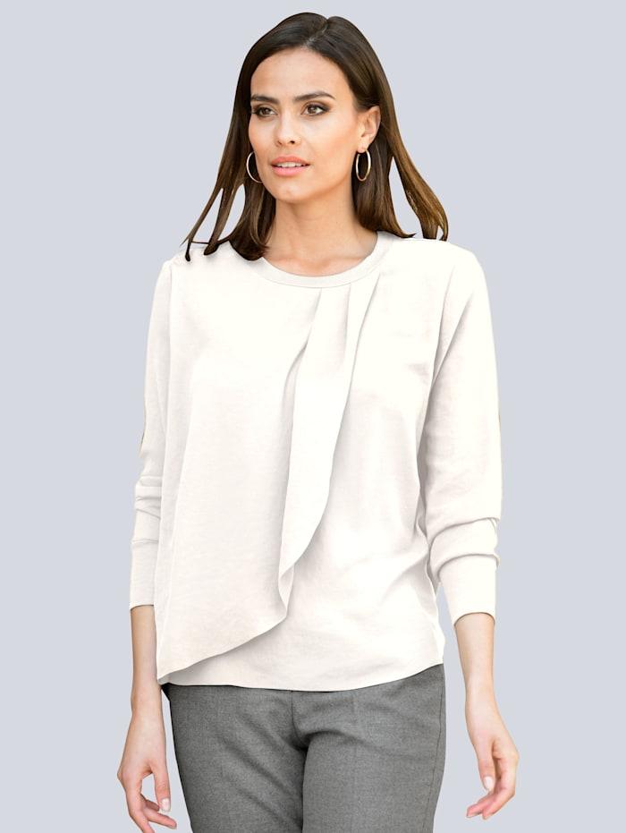 Alba Moda Bluse in weich fließender Qualität, Off-white