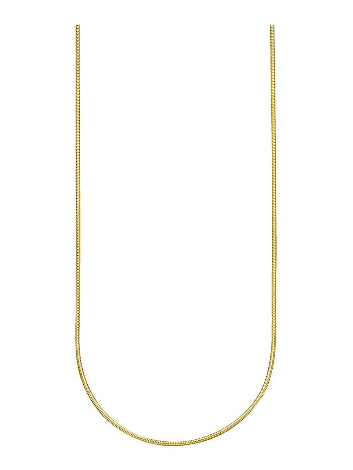 Diemer Gold Chaînemaille serpent en or jaune, Coloris or jaune