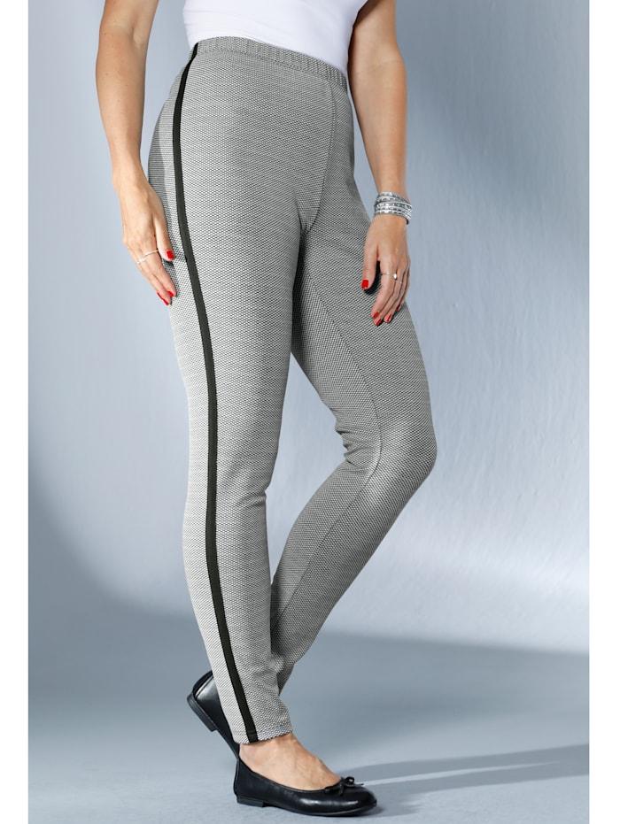 Pantalon à motif jacquard minimaliste