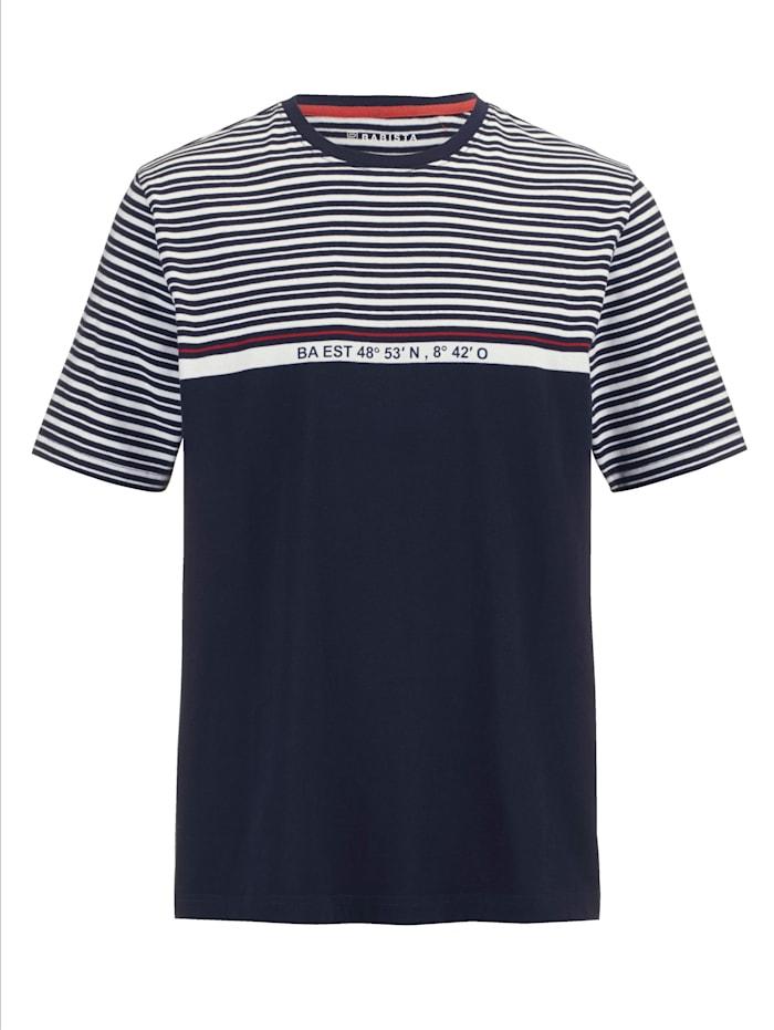 BABISTA T-Shirt mit Koordinaten-Print, Marineblau/Weiß/Rot