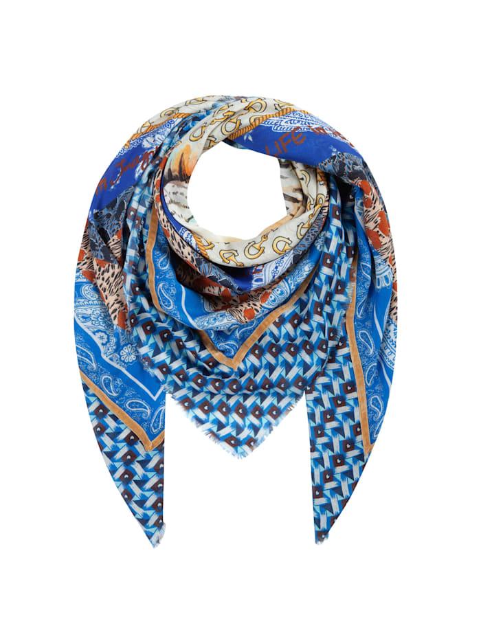 Codello Softes Tiger-Tuch aus Baumwolle und Modal, jeans blue