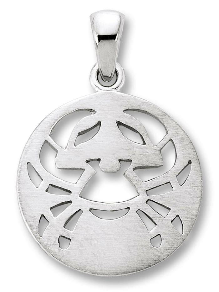 One Element Damen Schmuck Sternzeichen Anhänger Krebs aus 925 Silber, silber